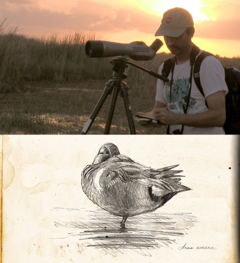 The stability of a scope and tripod frees your hands for lengthier sketches.